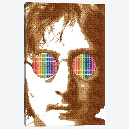Scrabble Lennon 3-Piece Canvas #GHO80} by Gary Hogben Art Print