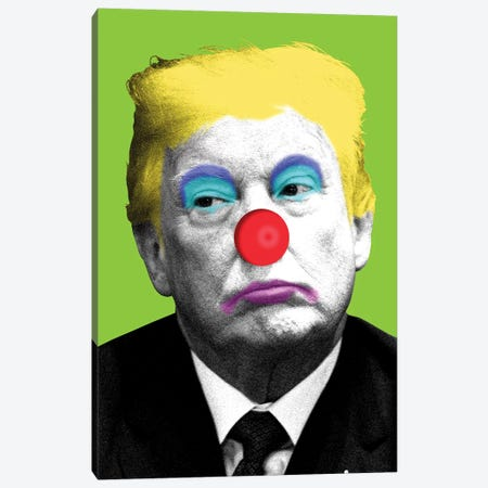 Send In The Clowns - Lime Canvas Print #GHO81} by Gary Hogben Art Print