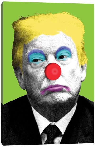 Send In The Clowns - Lime Canvas Art Print
