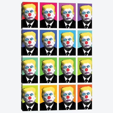 Send In The Clowns X 16 Canvas Print #GHO83} by Gary Hogben Canvas Print