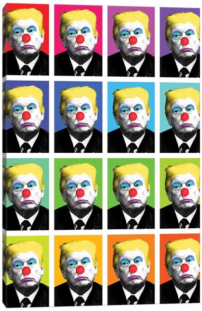 Send In The Clowns X 16 Canvas Art Print