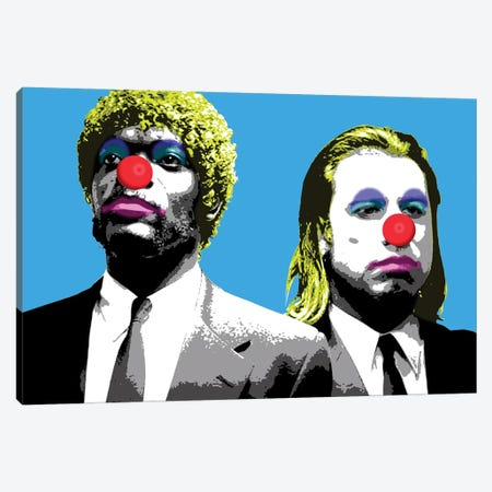 The Clowns Are Coming To Get You - Blue Canvas Print #GHO85} by Gary Hogben Canvas Wall Art