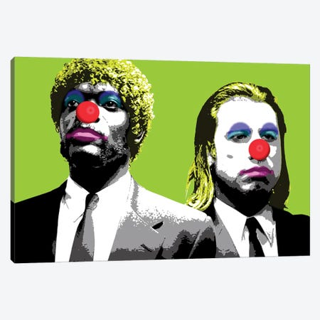 The Clowns Are Coming To Get You - Lime Canvas Print #GHO86} by Gary Hogben Canvas Art