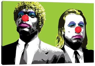 The Clowns Are Coming To Get You - Lime Canvas Art Print