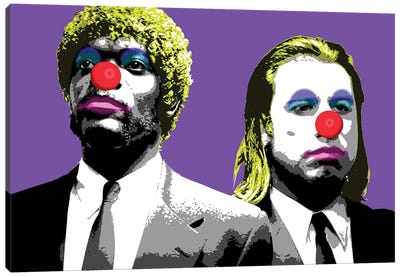 The Clowns Are Coming To Get You - Purple Canvas Art Print