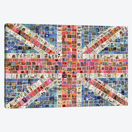 Union Jack Canvas Print #GHO92} by Gary Hogben Canvas Artwork