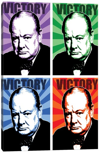 Churchill Victory X 4 Canvas Art Print