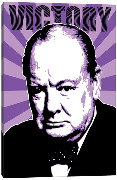 Churchill Victory - Purple Canvas Art Print
