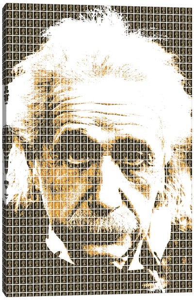 Einstein Black Canvas Art Print