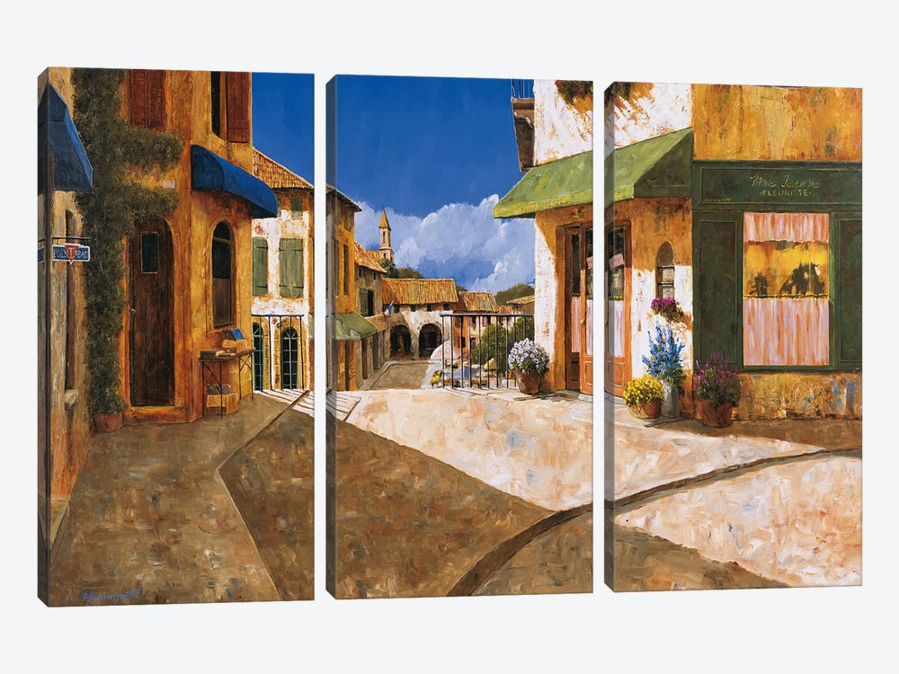 On My Way To The Market by Gilles Archambault 3-piece Canvas Art Print