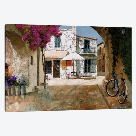 Picking Up Flowers Canvas Print #GIA16} by Gilles Archambault Canvas Wall Art