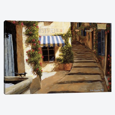 Au Coeur du Village Canvas Print #GIA1} by Gilles Archambault Canvas Wall Art