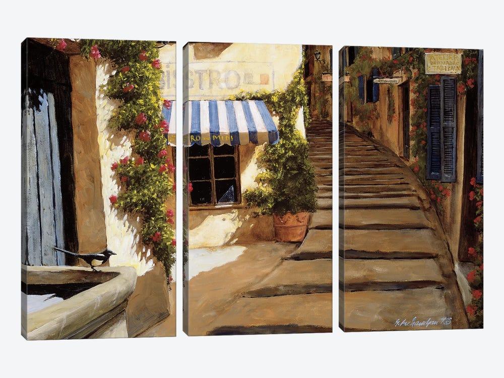 Au Coeur du Village by Gilles Archambault 3-piece Canvas Print