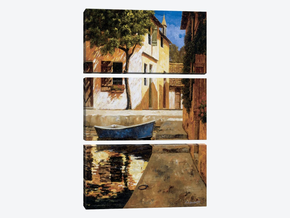 Touch Of Blue by Gilles Archambault 3-piece Art Print