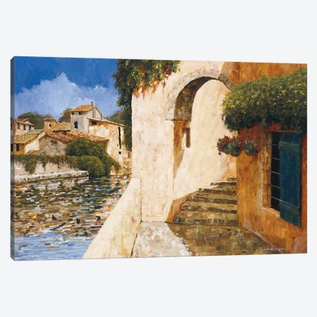 View Of The Harbor Canvas Print #GIA27} by Gilles Archambault Canvas Print