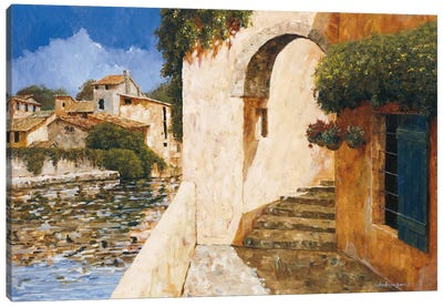 View Of The Harbor Canvas Art Print