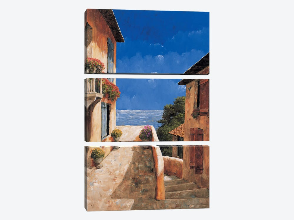 Villa By The Sea by Gilles Archambault 3-piece Canvas Print