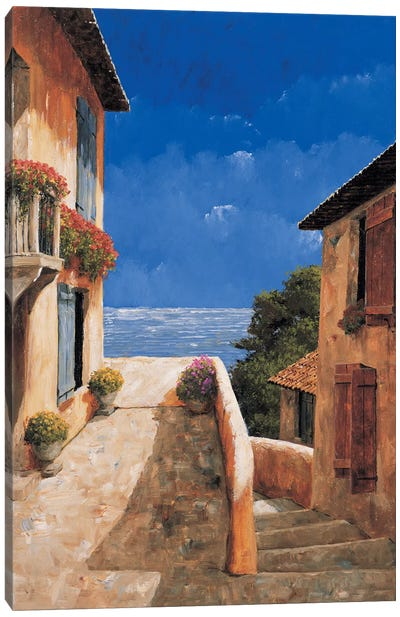 Villa By The Sea Canvas Art Print