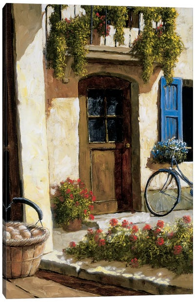 Back From The Market Canvas Art Print
