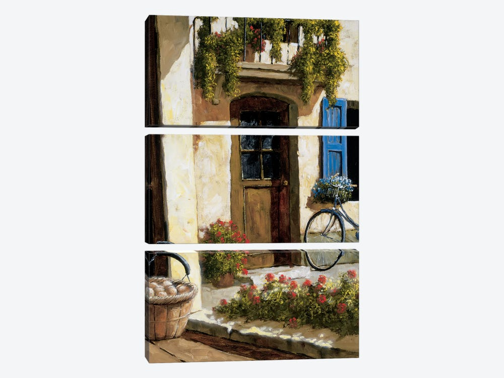 Back From The Market by Gilles Archambault 3-piece Canvas Artwork