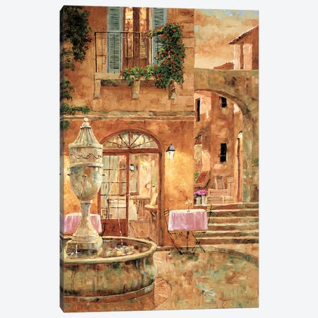 Evening At The Fountain Canvas Print #GIA6} by Gilles Archambault Art Print