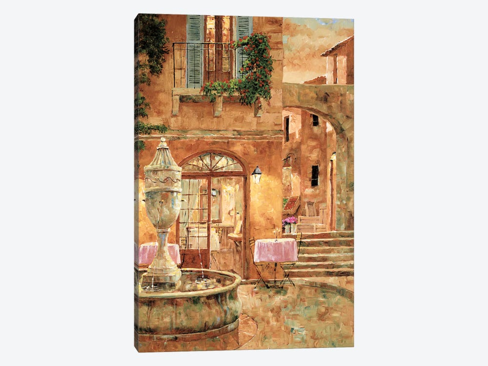 Evening At The Fountain by Gilles Archambault 1-piece Canvas Art