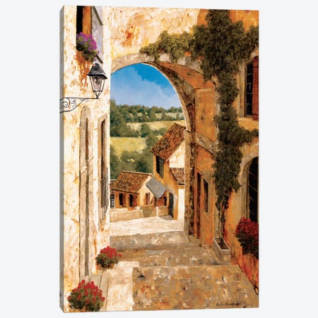 Going Down To The Village Canvas Print #GIA7} by Gilles Archambault Art Print