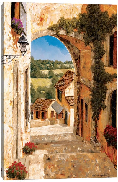 Going Down To The Village Canvas Art Print