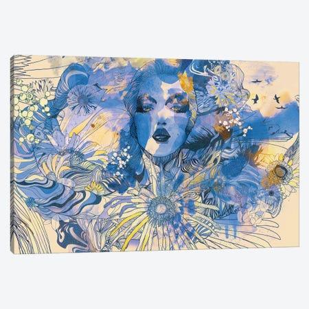 Gerbera Canvas Print #GII31} by Giulio Iurissevich Art Print
