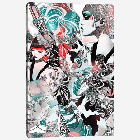 Japanese Dream Canvas Print #GII36} by Giulio Iurissevich Canvas Artwork