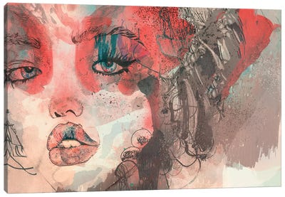 Kiss Me Kiss Me Kiss Me II Canvas Art Print