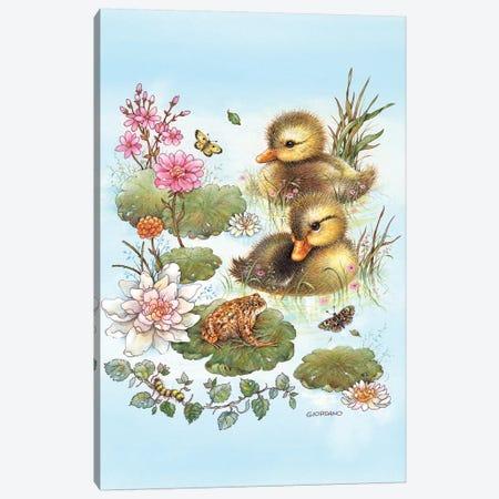 Mallard Hatchlings Canvas Print #GIO10} by Giordano Studios Canvas Art Print