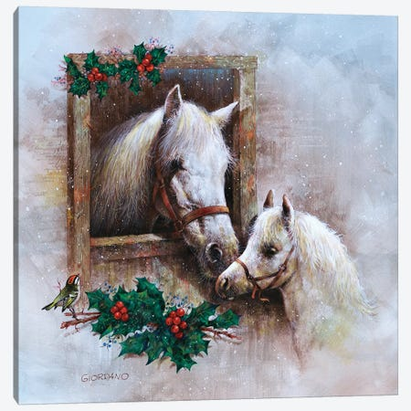 Holly And Ivy Canvas Print #GIO115} by Giordano Studios Canvas Print