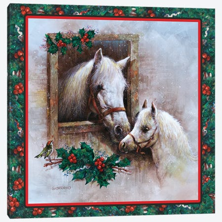 Holly And Ivy Canvas Print #GIO116} by Giordano Studios Canvas Art Print