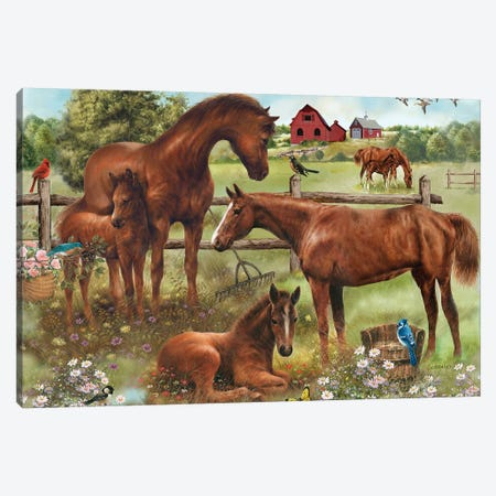 Out In The Meadow Canvas Print #GIO120} by Giordano Studios Canvas Art Print
