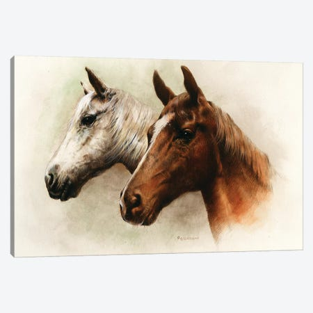 Portrait Of Our Duo Canvas Print #GIO122} by Giordano Studios Art Print