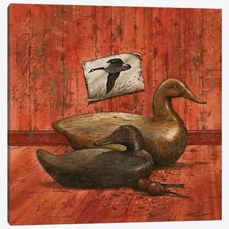 Covey Of Decoys Canvas Print #GIO135} by Giordano Studios Art Print