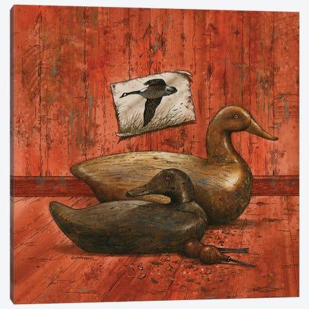 Covey Of Decoys Canvas Print #GIO135} by Giordano Studios Art Print