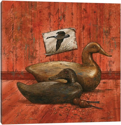 Covey Of Decoys Canvas Art Print