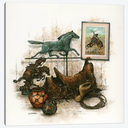 Inside The Saddelry Canvas Print #GIO138} by Giordano Studios Canvas Wall Art