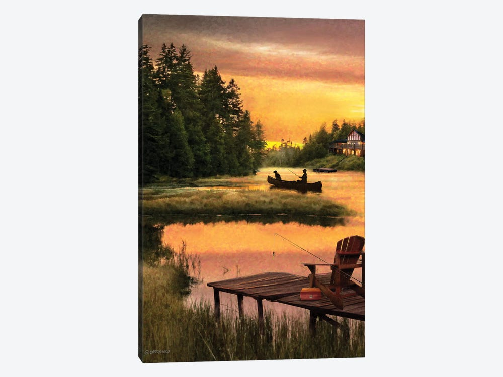 Lakside Reflection by Giordano Studios 1-piece Canvas Print