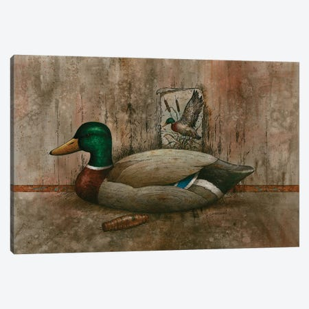 Mallard In Dimension Canvas Print #GIO141} by Giordano Studios Canvas Art Print