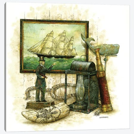 Mariner's Landing Canvas Print #GIO142} by Giordano Studios Art Print