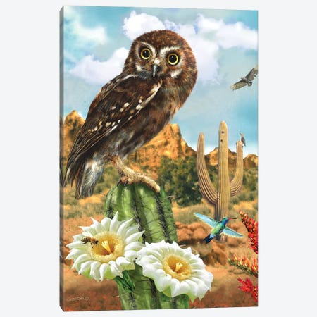 Elf In The Cacti Canvas Print #GIO149} by Giordano Studios Art Print