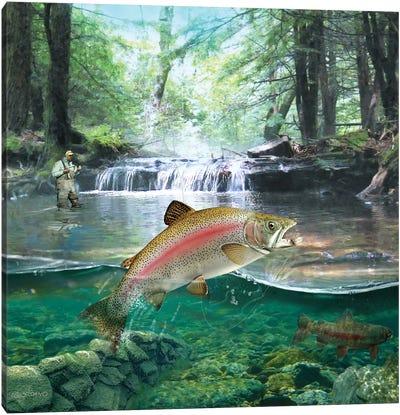 Below The First Waterfall Canvas Art Print