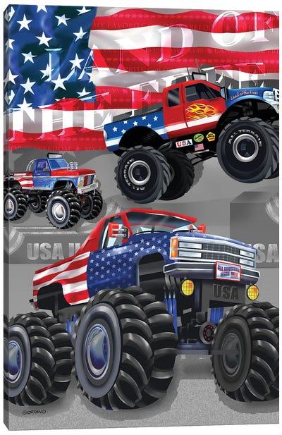 American Truckers Canvas Art Print