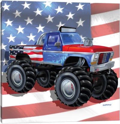 American Truckers l Canvas Art Print
