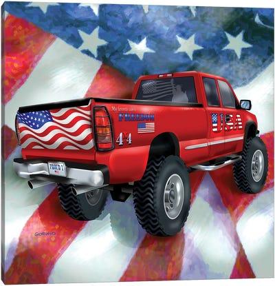American Truckers ll Canvas Art Print