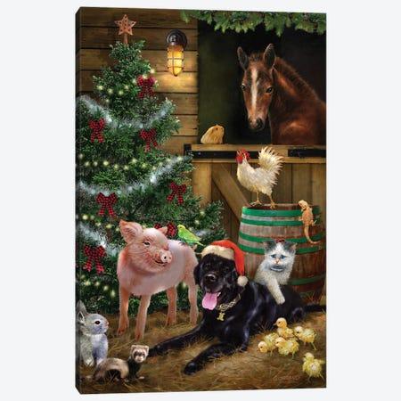 A Pet for Christmas Canvas Print #GIO187} by Giordano Studios Canvas Artwork