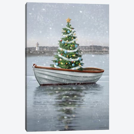 Holiday Harbor Canvas Print #GIO190} by Giordano Studios Canvas Artwork